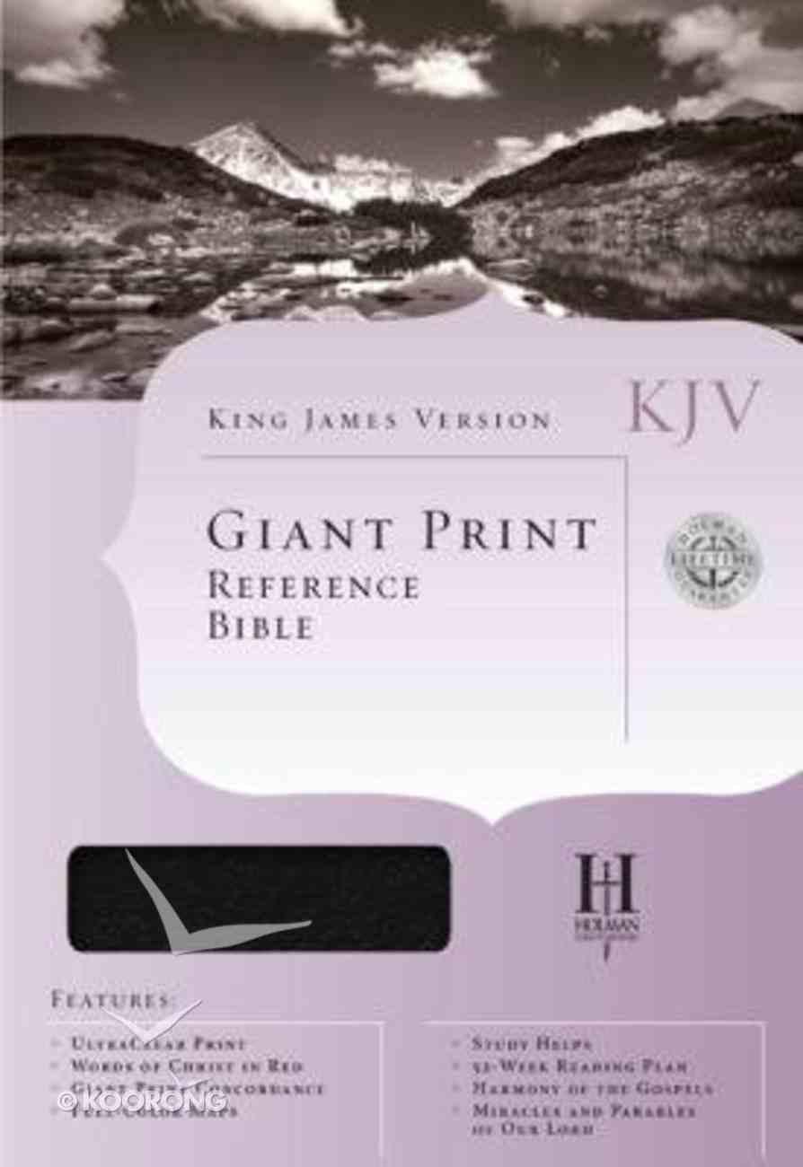 KJV Cornerstone Giant Print Reference Black Bible (Red Letter Edition) Imitation Leather