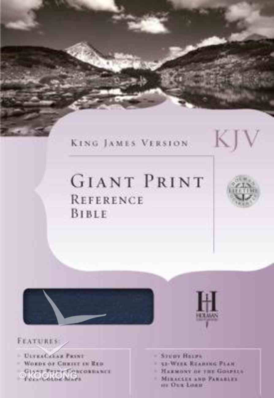 KJV Cornerstone Giant Print Reference Blue (Red Letter Edition) Imitation Leather