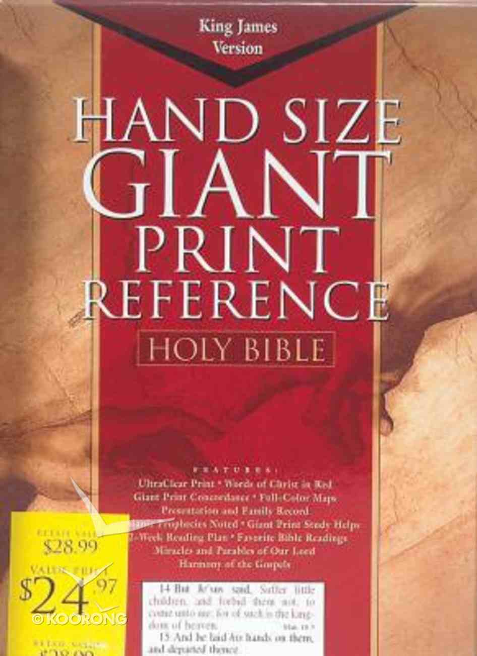 KJV Cornerstone Giant Print Burgundy Indexed (Red Letter Edition) Imitation Leather