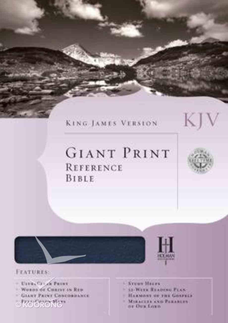 KJV Giant Print Reference Blue (Red Letter Edition) Bonded Leather
