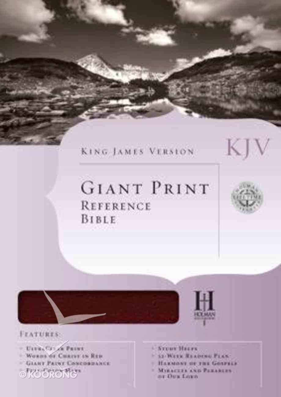 KJV Giant Print Reference Burgundy Indexed (Red Letter Edition) Bonded Leather