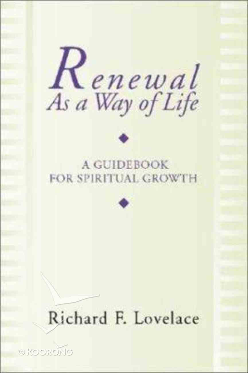 Renewal as a Way of Life Paperback