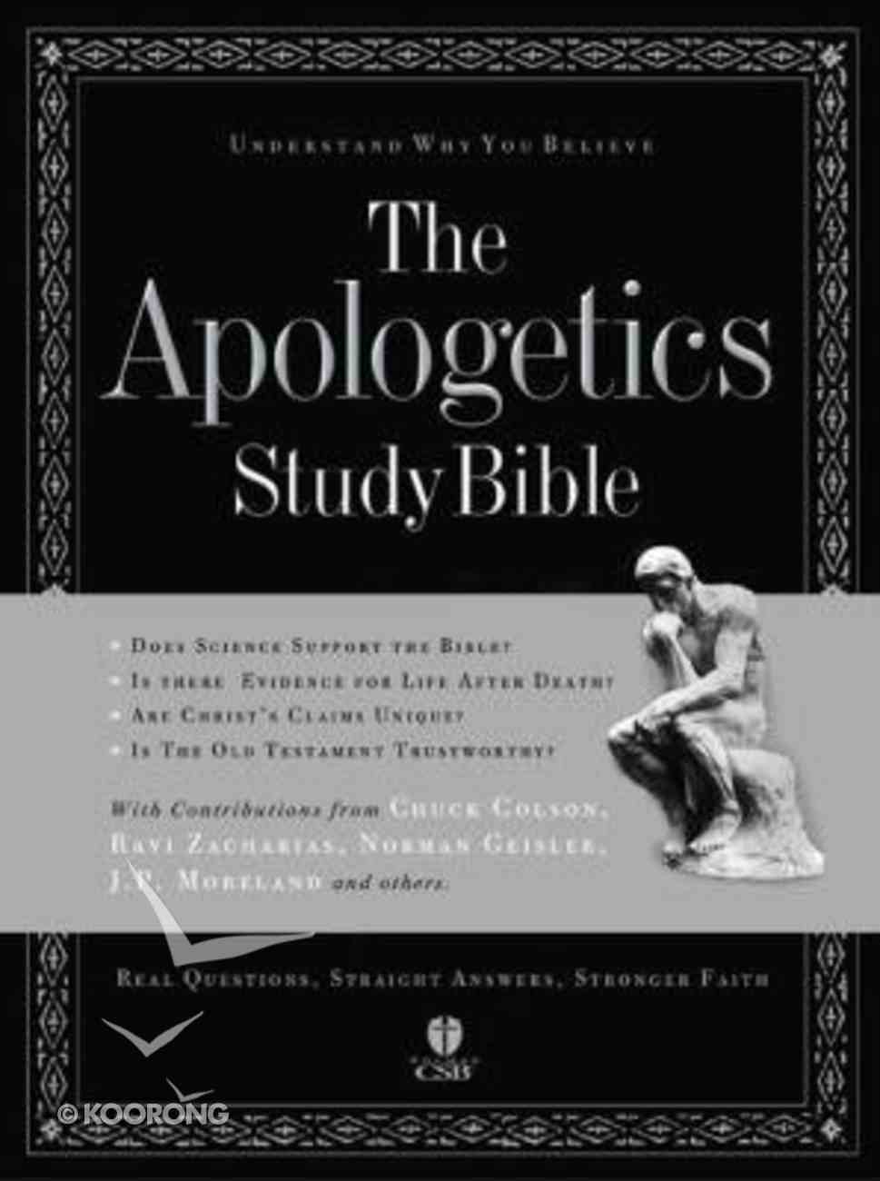HCSB Apologetics Study Bible (Red Letter Edition) (Brown) Genuine Leather