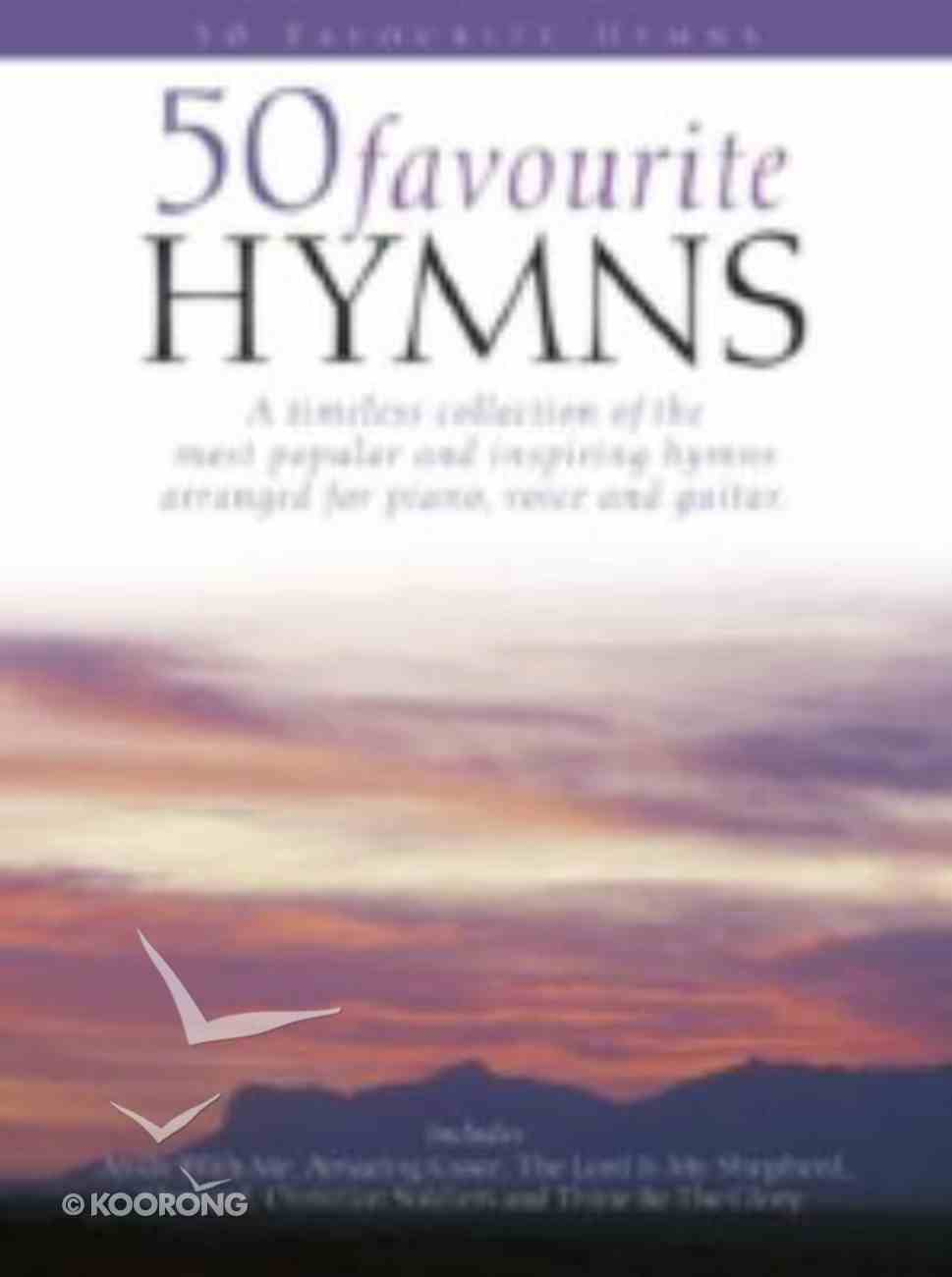 50 Favourite Hymns (Piano/Vocal/Guitar) (Music Book) Paperback