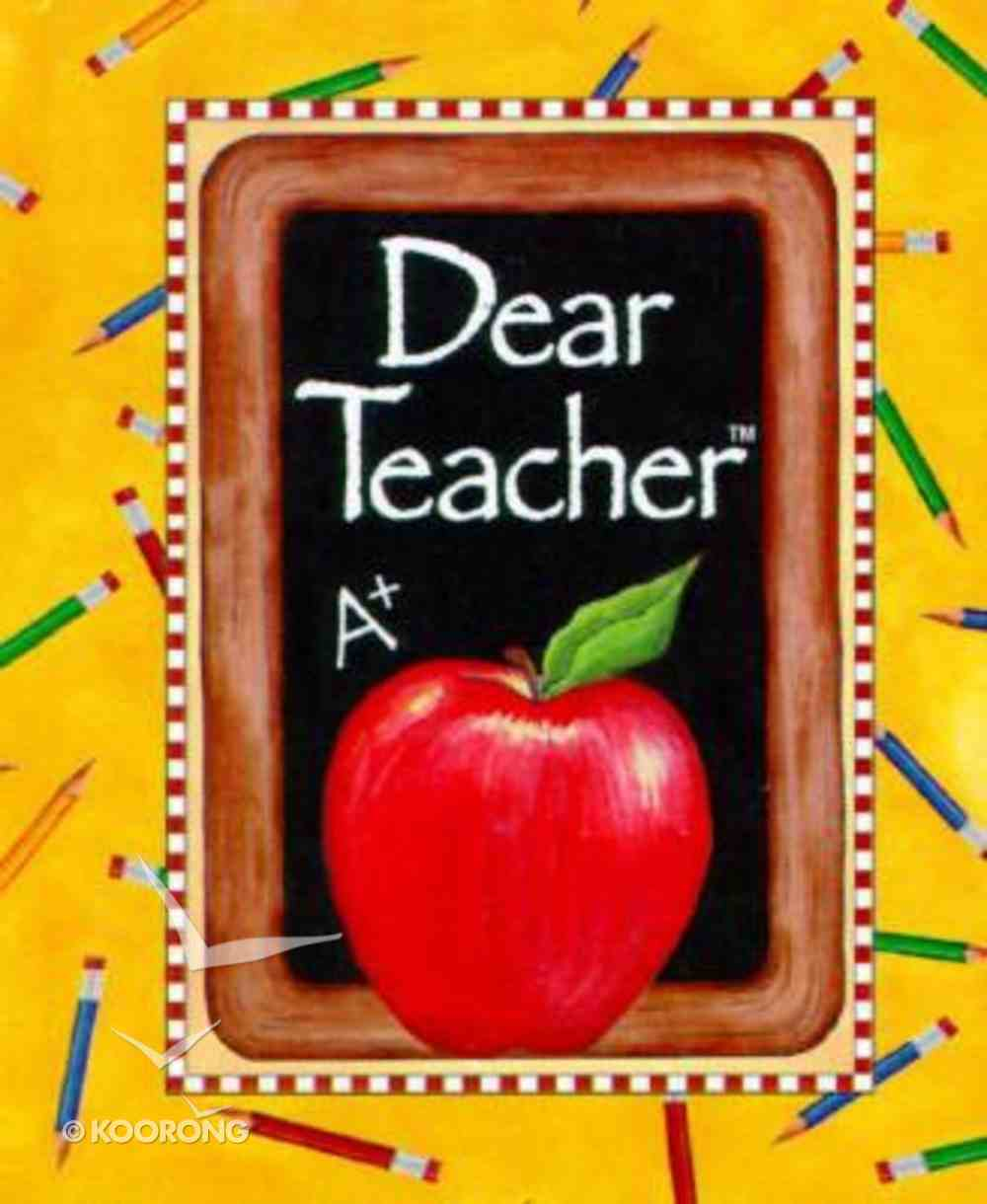 Dear Teacher Mini Book Hardback