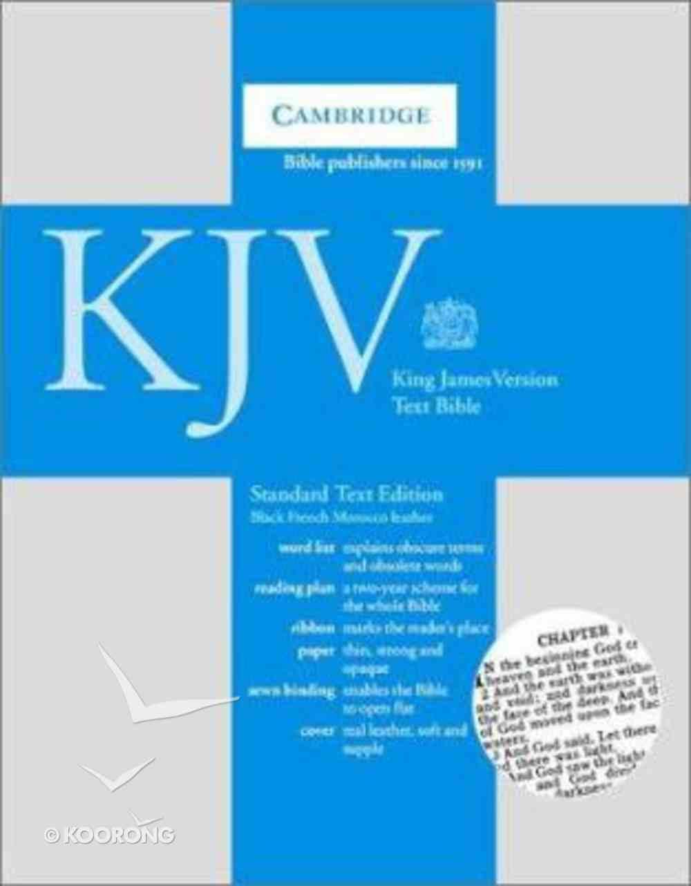 KJV Cambridge Black (Black Letter Edition) Morocco Leather (Sheepskin)