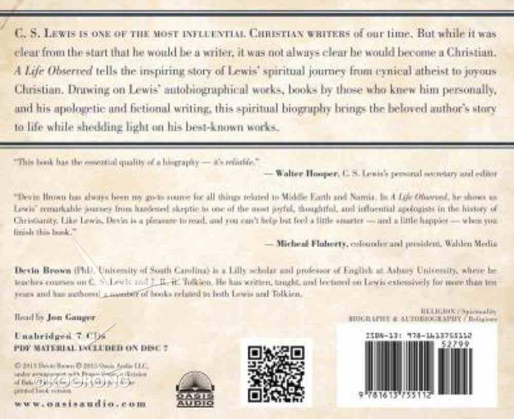 A Life Observed (Unabridged, 7 Cds) CD