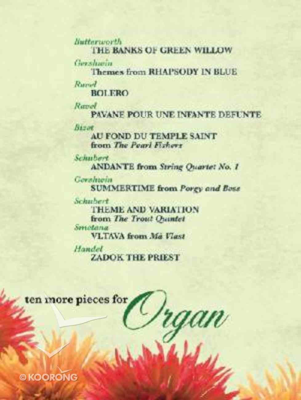 Ten More Pieces For Organ Paperback