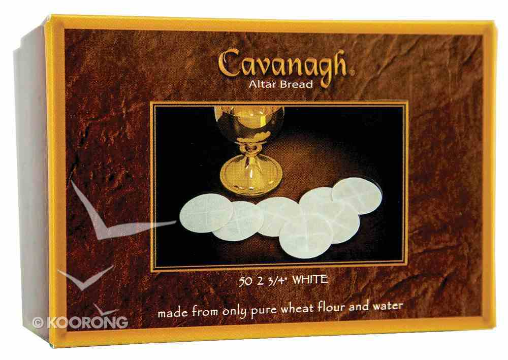 """Communion Altar Bread: 2 3/4"""" Large Priest White (Wafers) Box"""
