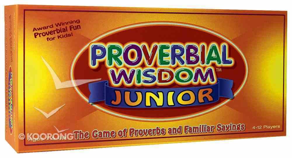 Board Game: Proverbial Wisdom Junior Game
