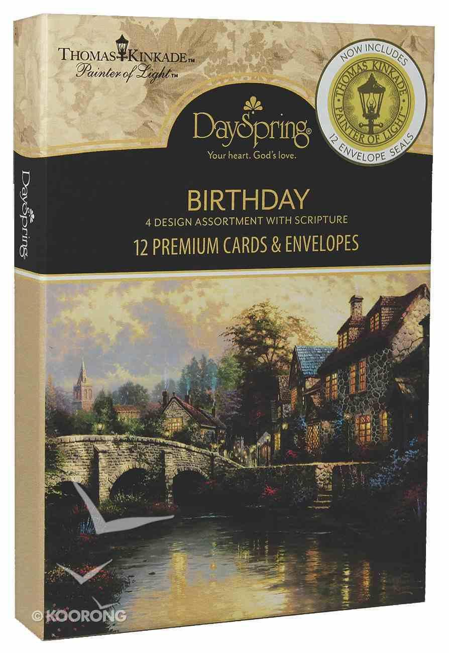 Boxed Cards Birthday: Thomas Kinkade Box With Envelope Seals Box