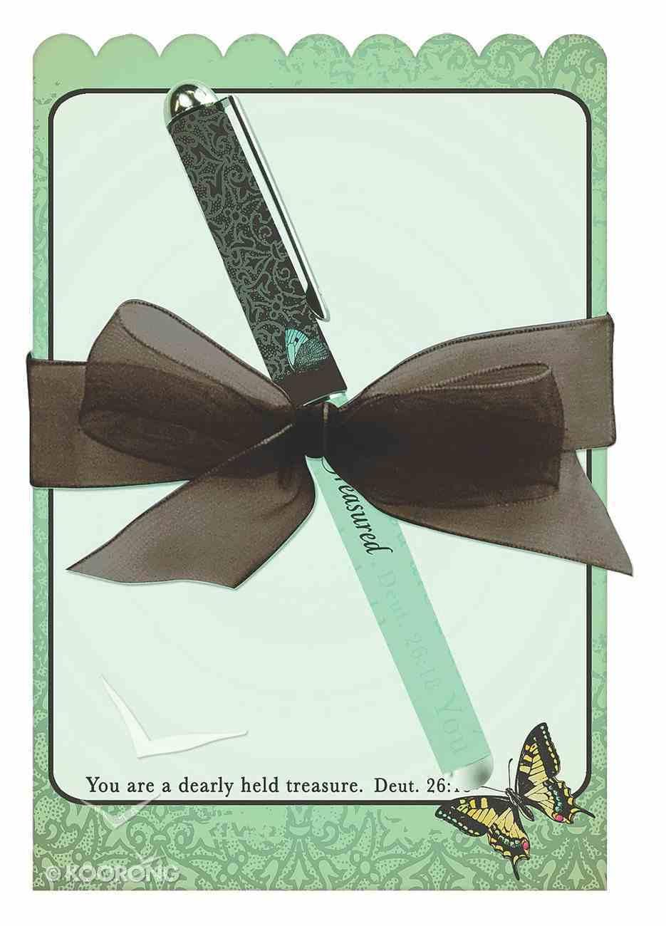 Memo Pad and Pen Gift Set: Treasured Stationery