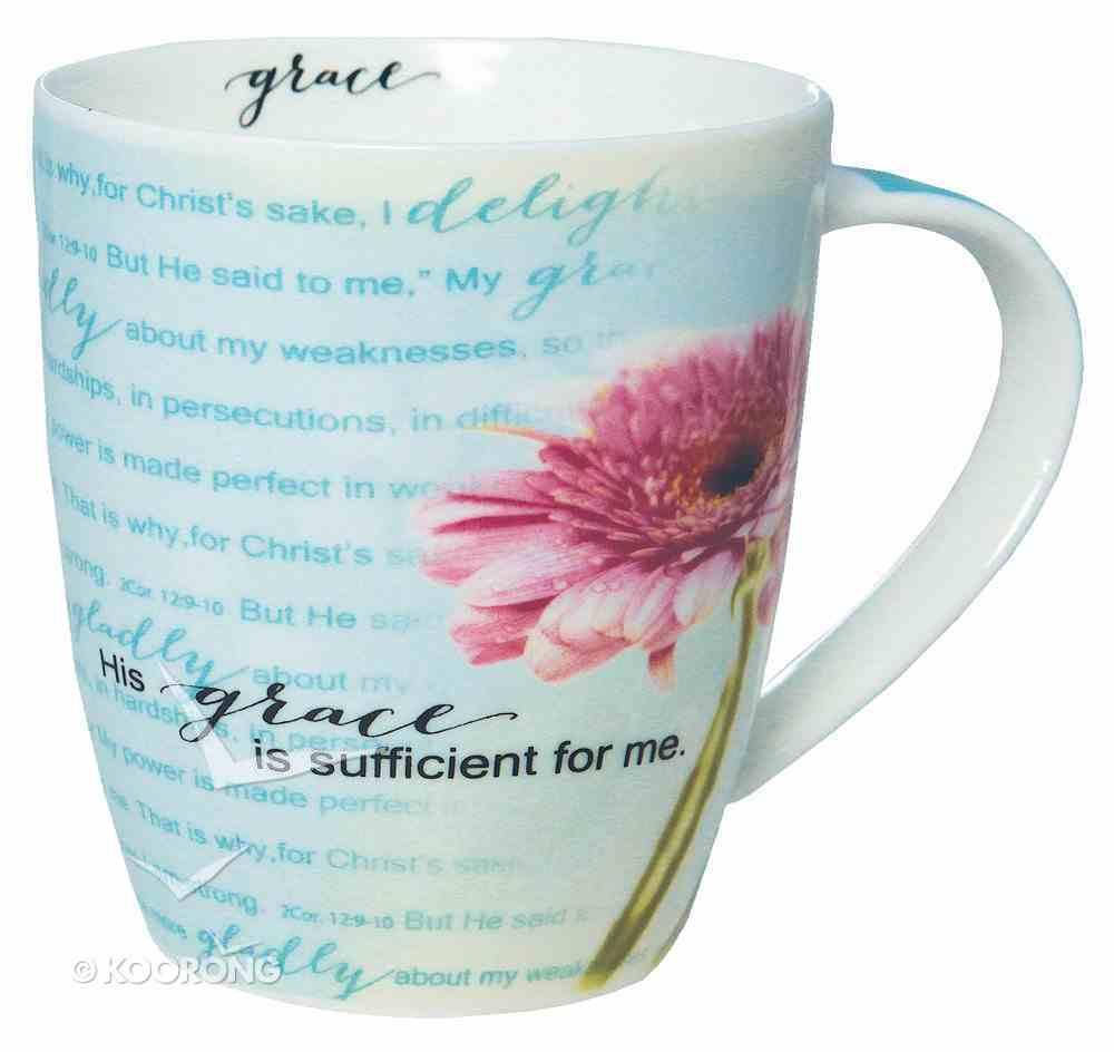 Ceramic Mug: His Grace is Sufficient (355ml) Homeware