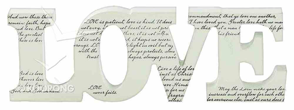 Standing Word Plaque: Love Homeware