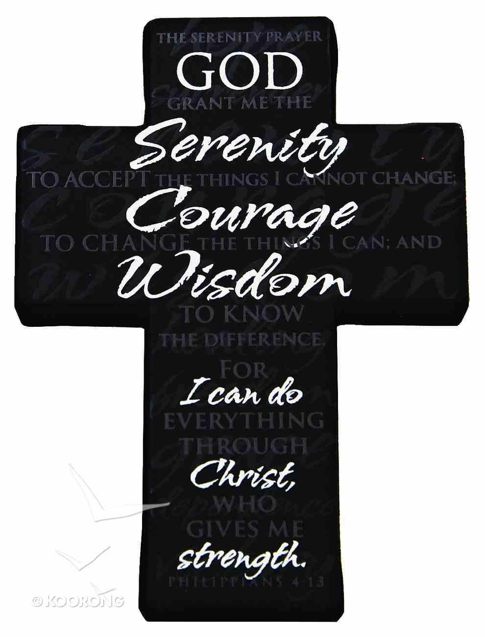 Mini Metal Serenity Prayer Cross, Philippians 4: 13 Homeware
