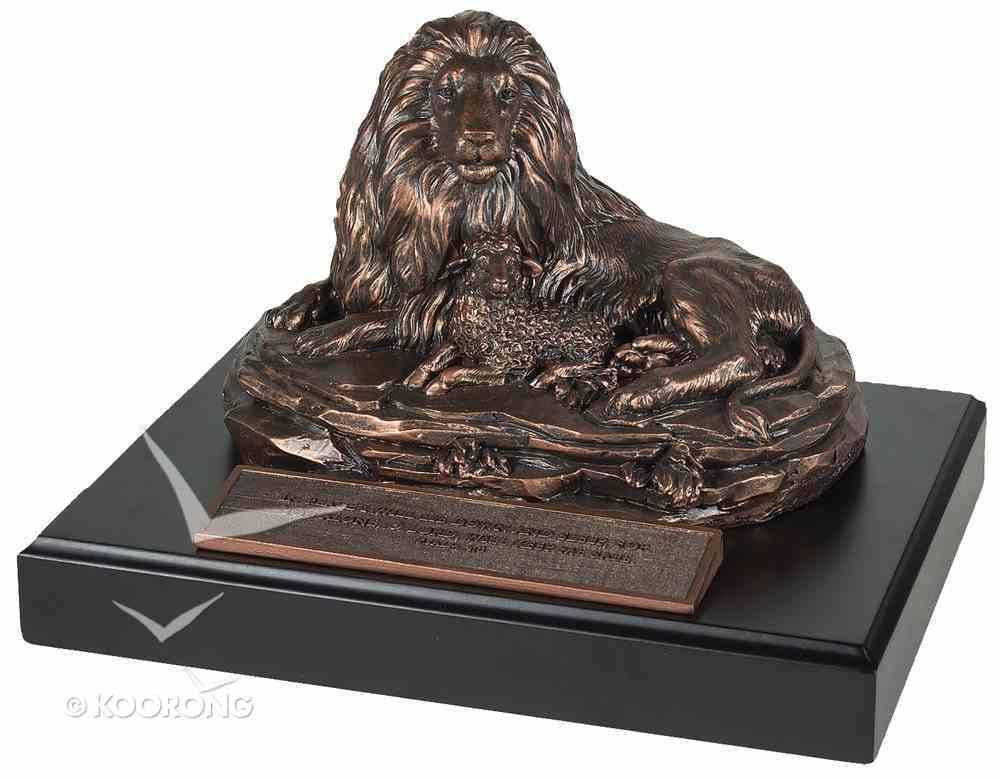 Moments of Faith Sculpture: Lion & Lamb, Psalm 4:8 Homeware