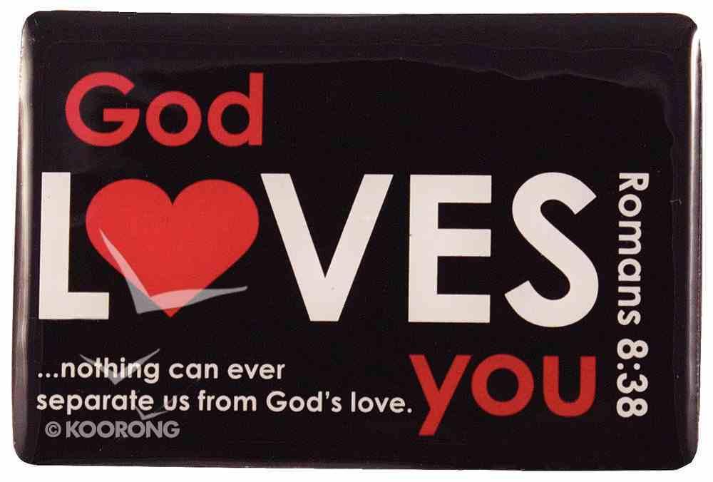 Inspirational Magnet: God Loves You, Black Homeware