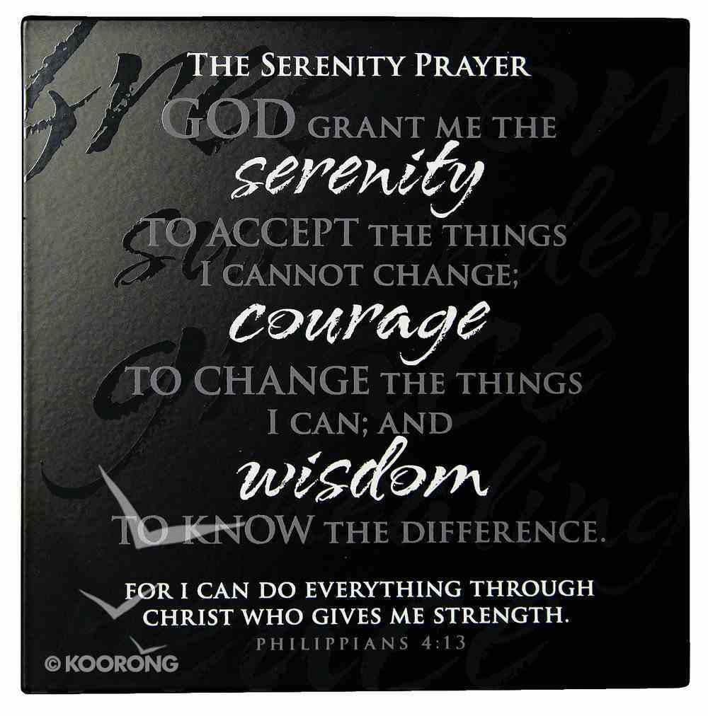 Plaque: Serenity Prayer, Philippians 4:13 Plaque