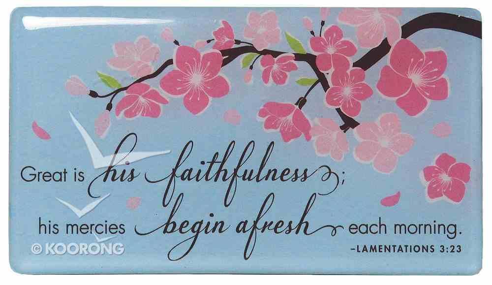 Cherry Blossoms Series: Magnet, Lamentations 3:23 Homeware
