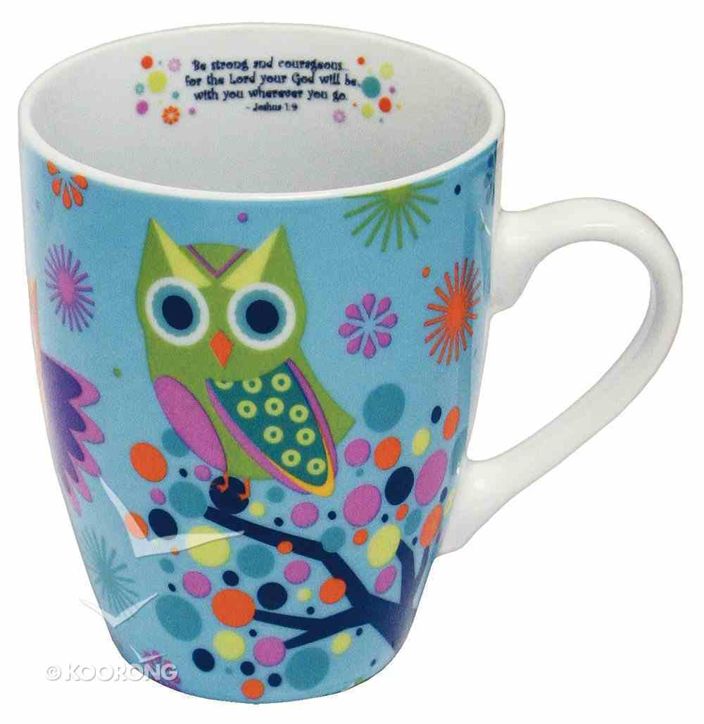 Ceramic Mug: Owl (Joshua 1:9) Homeware
