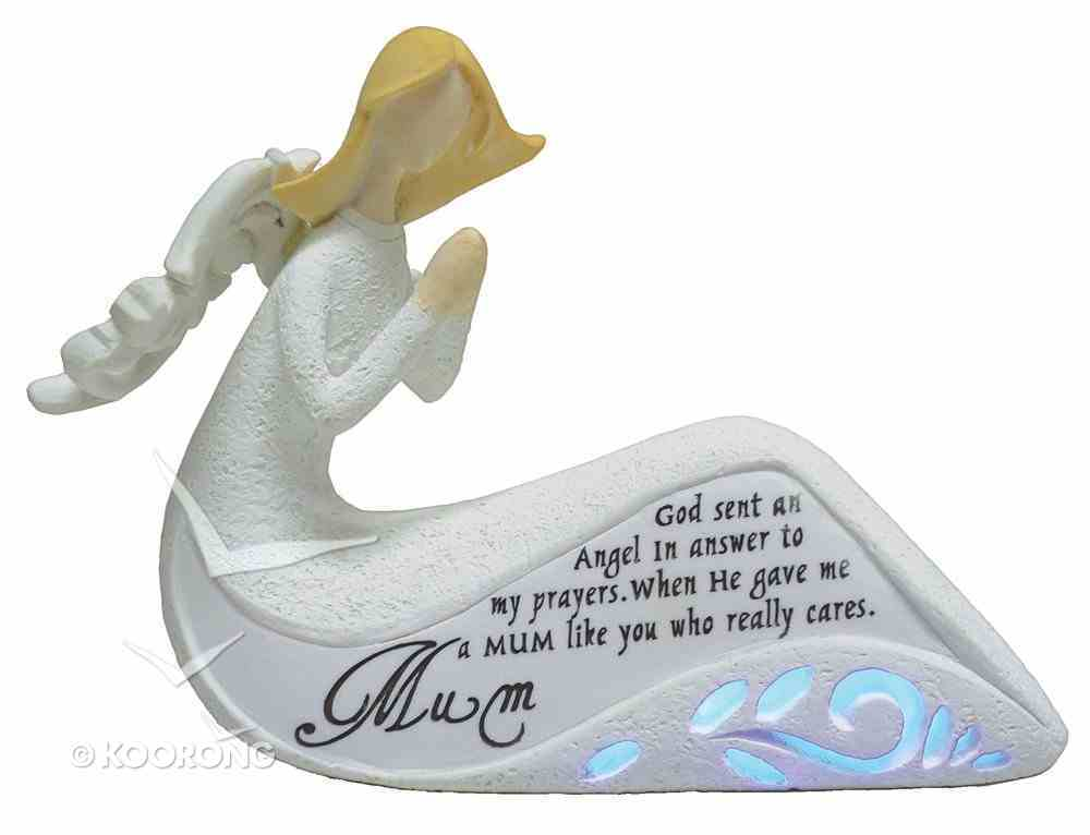 Angel Ornament With Led Light Mum (Batteries Included) Homeware