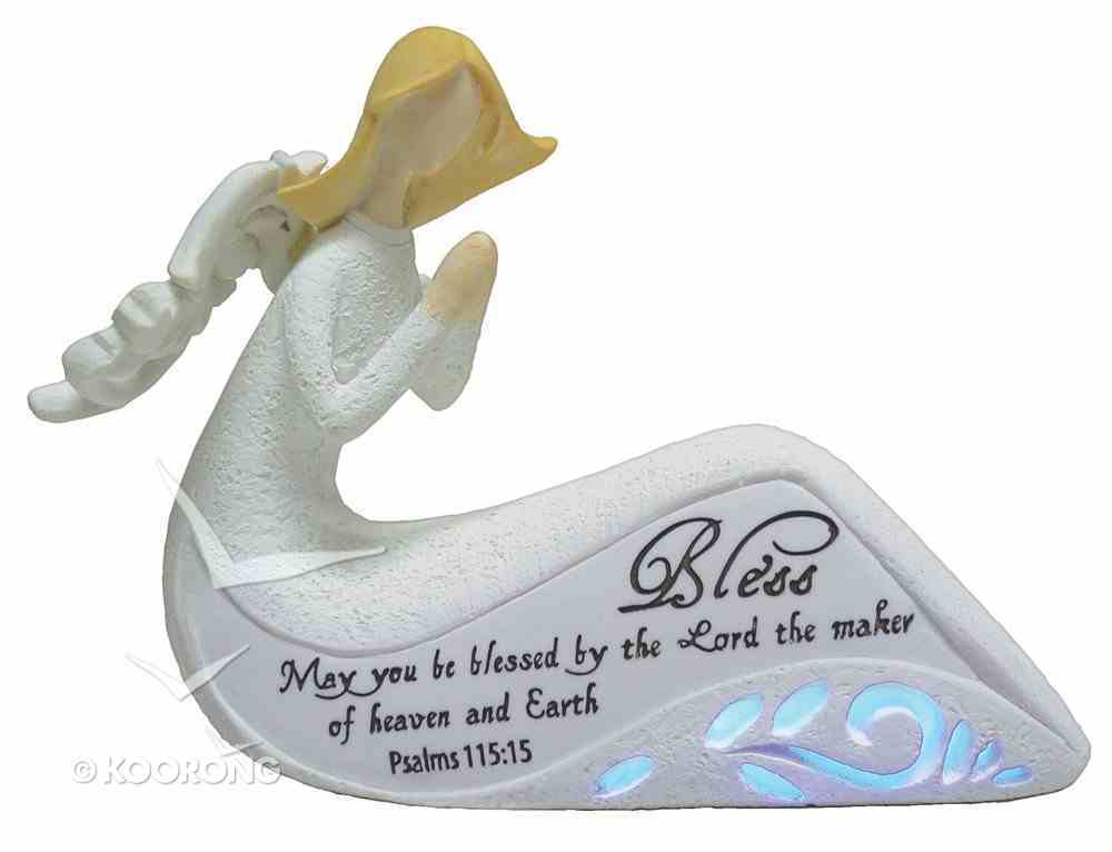 Angel Ornament With Led Light Bless Psalms 115: 15 (Batteries Included) Homeware