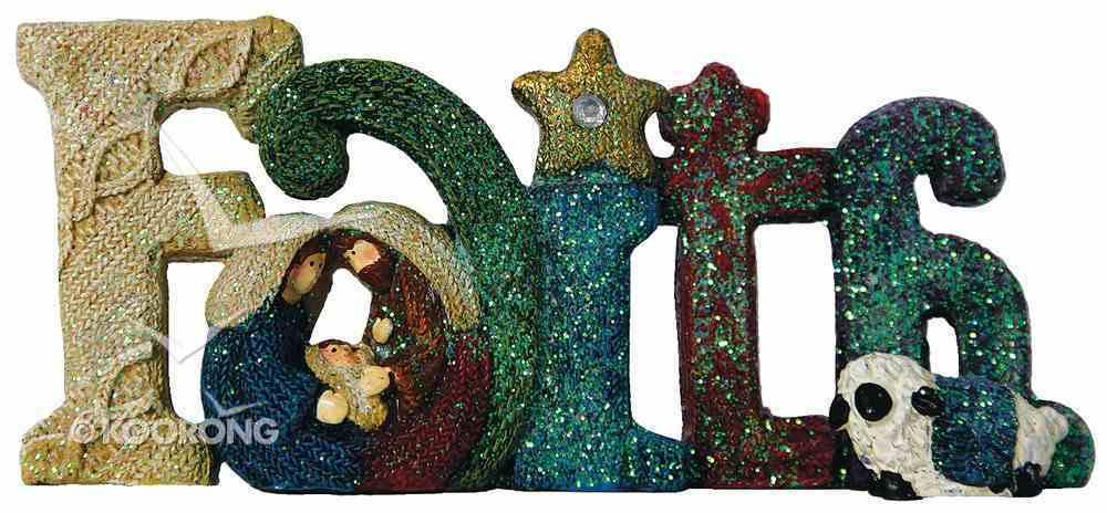 Knitted Nativity Word Faith, Coloured Homeware