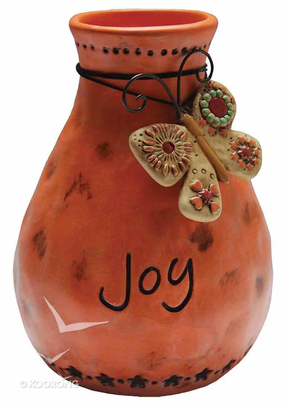 Vase Joy, Orange With Butterfly Homeware