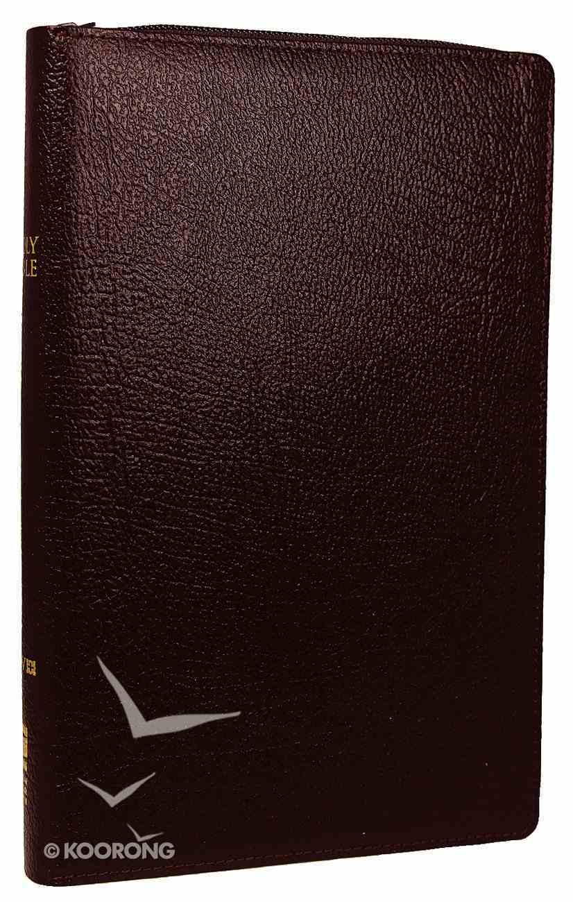 NIV Thinline Zippered Bible Burgundy (Red Letter Edition) Bonded Leather