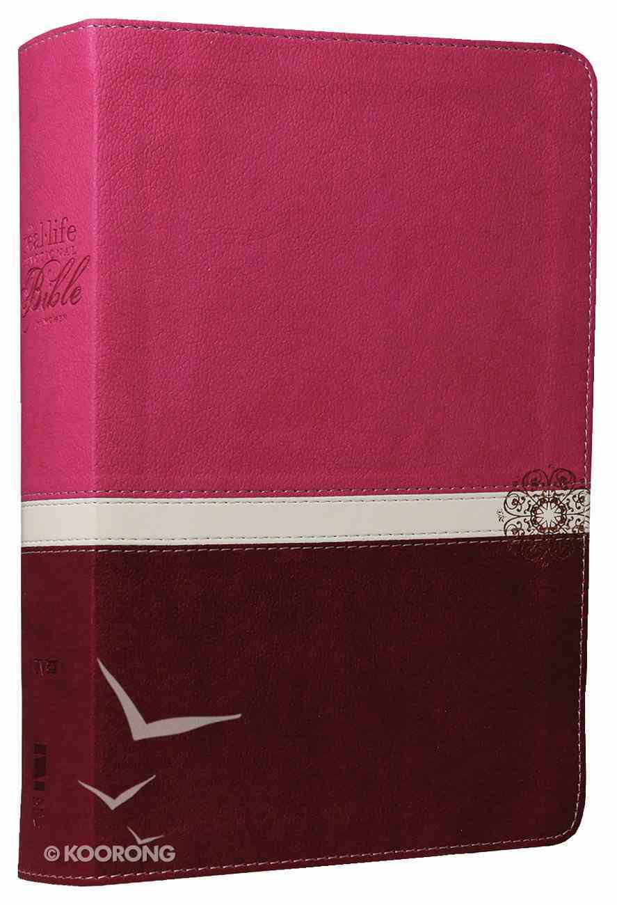 NIV Real-Life Devotional Bible For Women Raspberry/Razzleberry Imitation Leather