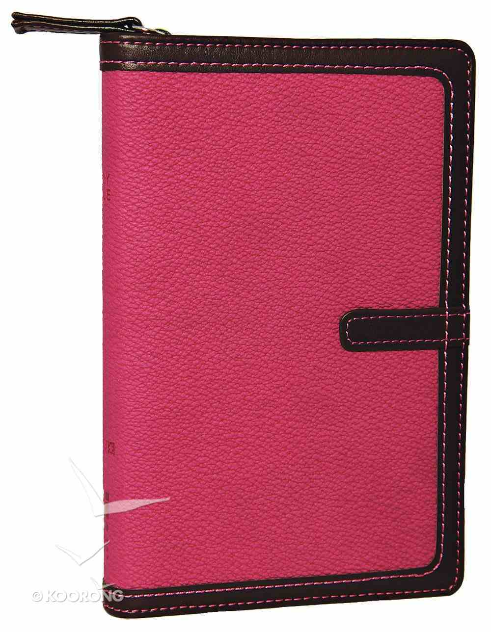 NIV Compact Thinline Bible Zippered Orchid/Chocolate Duo-Tone (Red Letter Edition) Imitation Leather