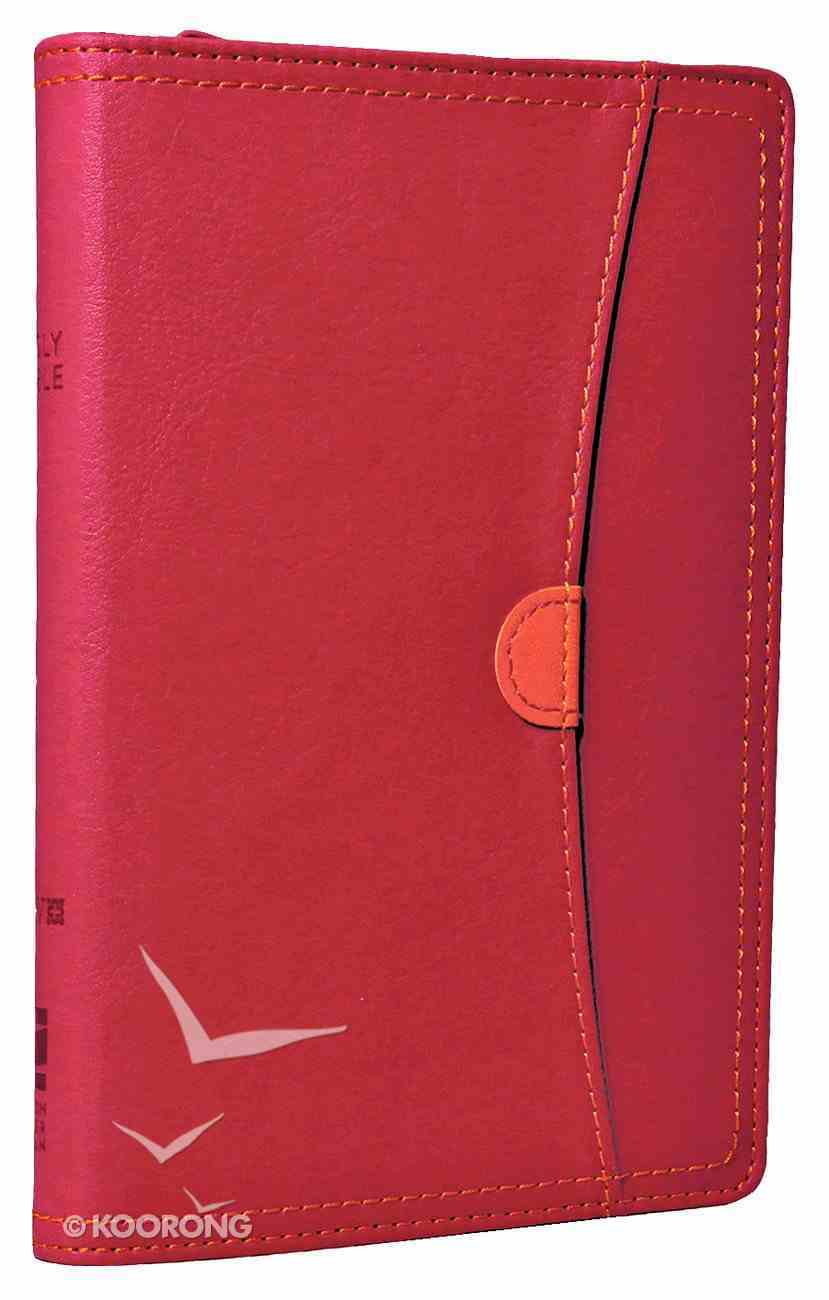 NIV Compact Thinline Bible Zippered Hot Pink/Tangerine Duo-Tone (Red Letter Edition) Imitation Leather
