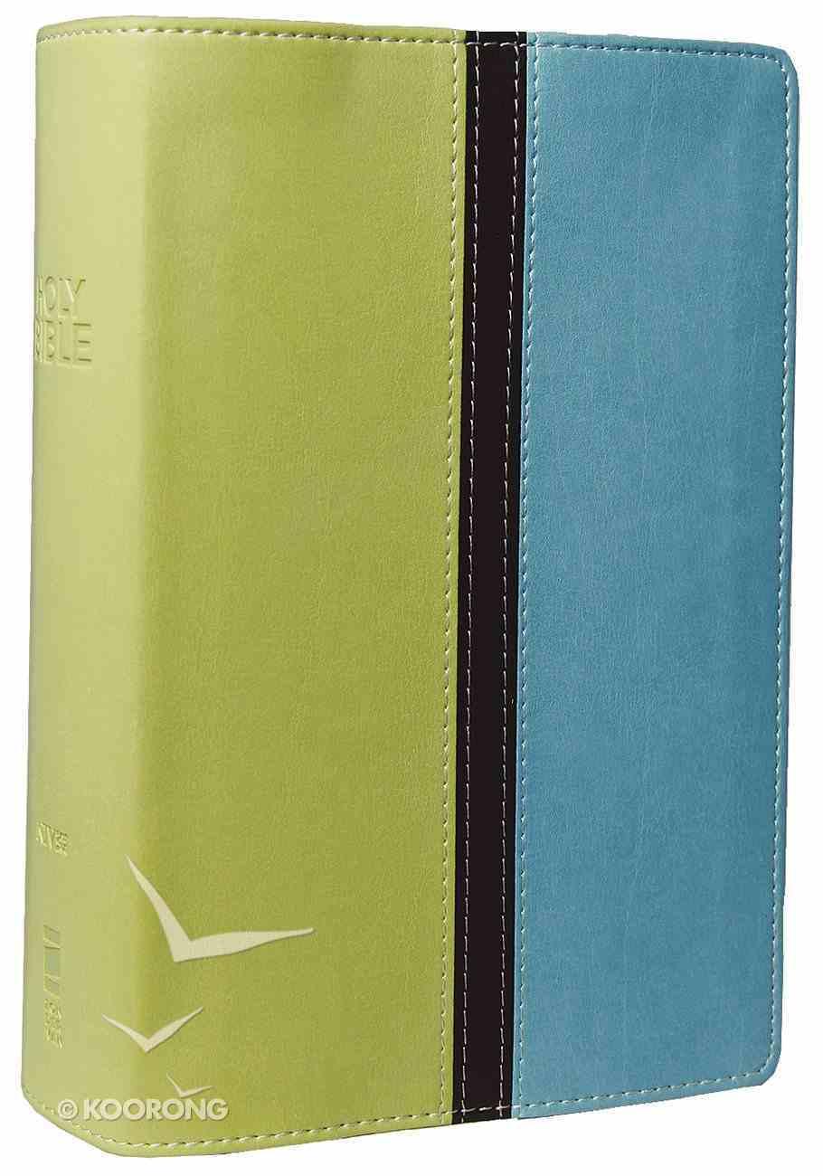 NIV Compact Giant Print Melon Green/Turquoise (Black Letter Edition) Premium Imitation Leather