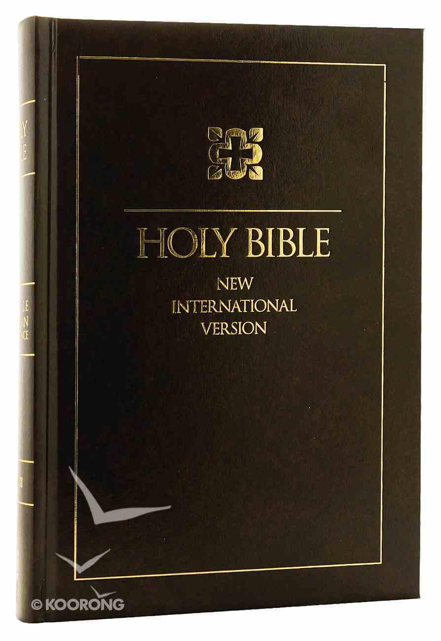 NIV Single-Column Reference Bible (Black Letter Edition) Hardback