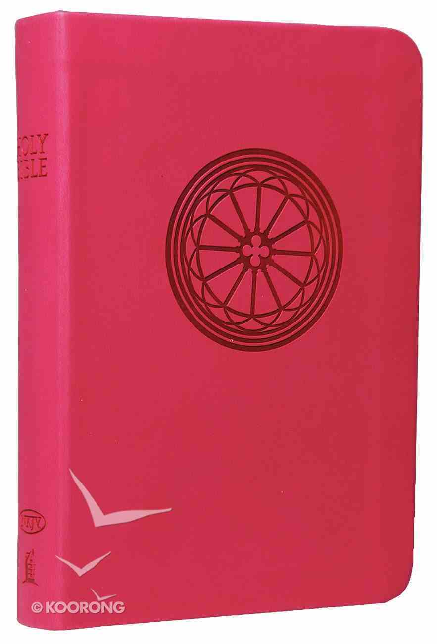 NKJV Compact Large Print Reference Bible Raspberry (Essentials) Imitation Leather