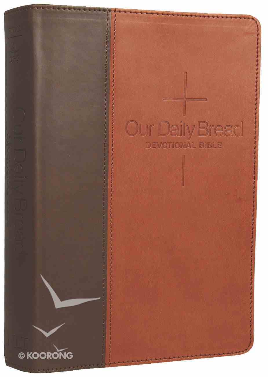 NLT Our Daily Bread Devotional Bible Brown/Tan (Black Letter Edition) Imitation Leather