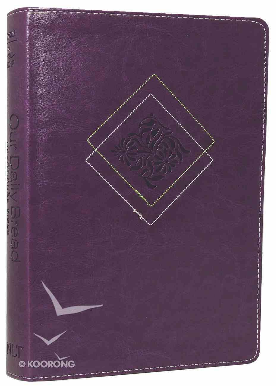 NLT Our Daily Bread Devotional Bible Eggplant (Black Letter Edition) Imitation Leather