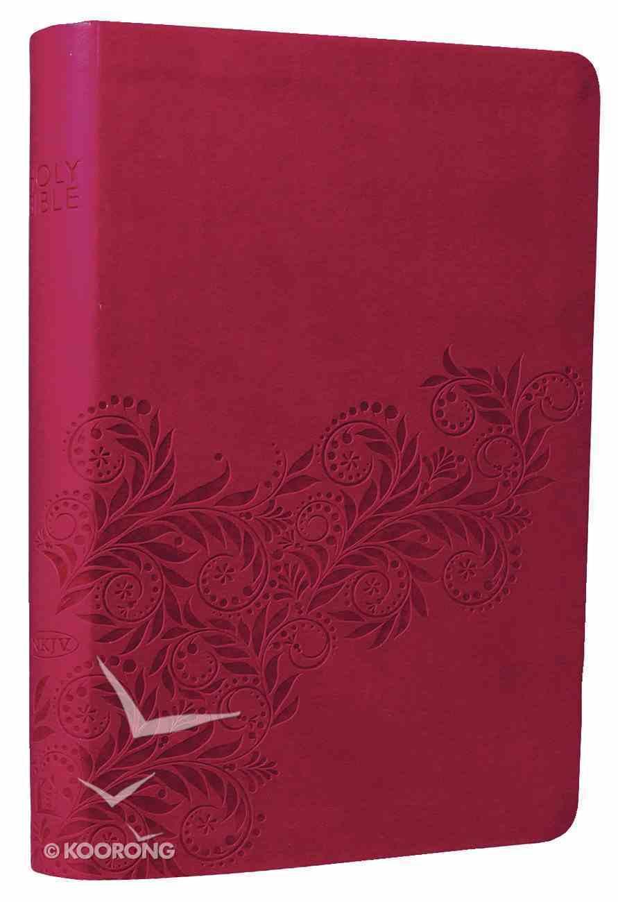 NKJV Ultraslim Reference Bible Light Cranberry Imitation Leather