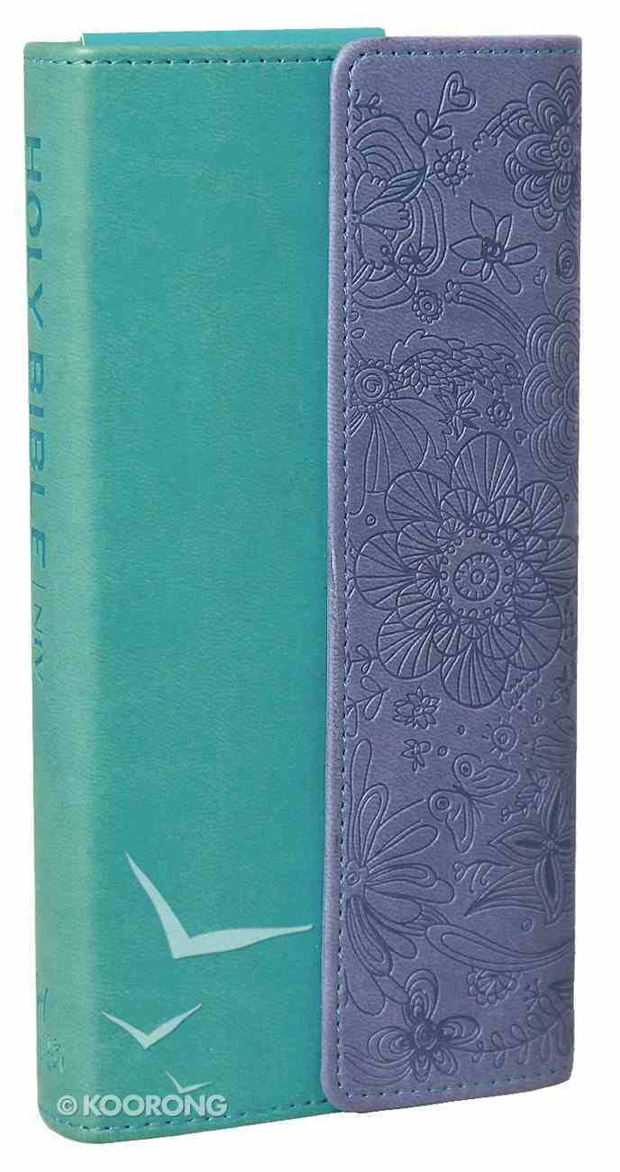 NIV Diary Bible Turquoise Purple With Clasp Imitation Leather
