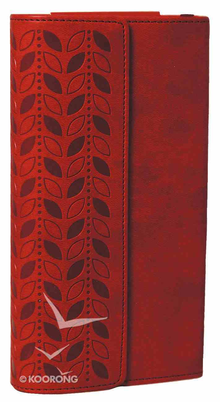 NIV Diary Bible Cherry With Clasp (Black Letter Edition) Imitation Leather