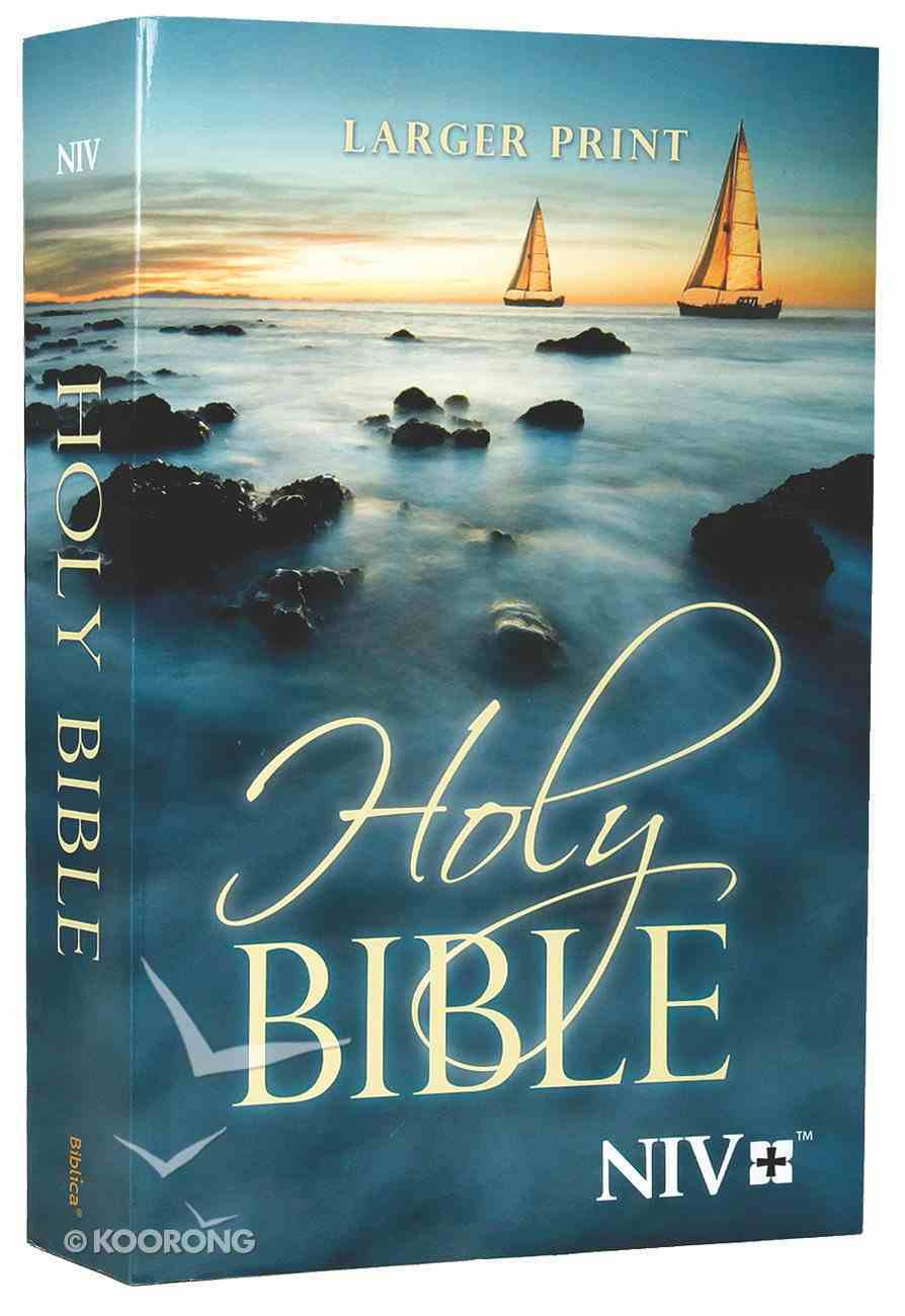 NIV Outreach Larger Print Bible Blue Boat (Black Letter Edition) Paperback