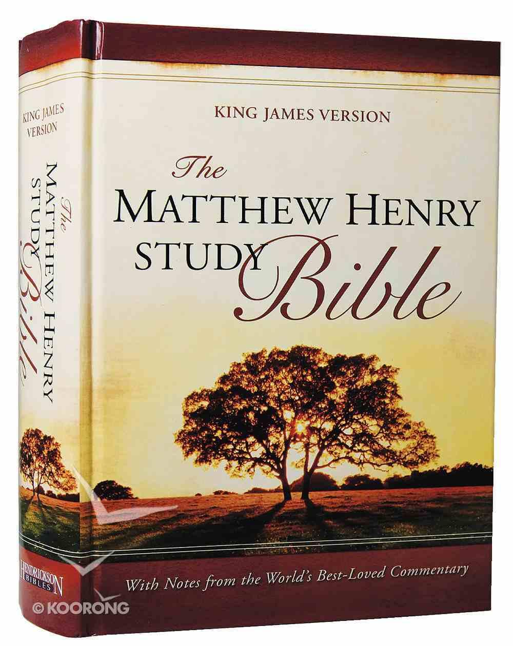 KJV Matthew Henry Study Bible Indexed Hardback