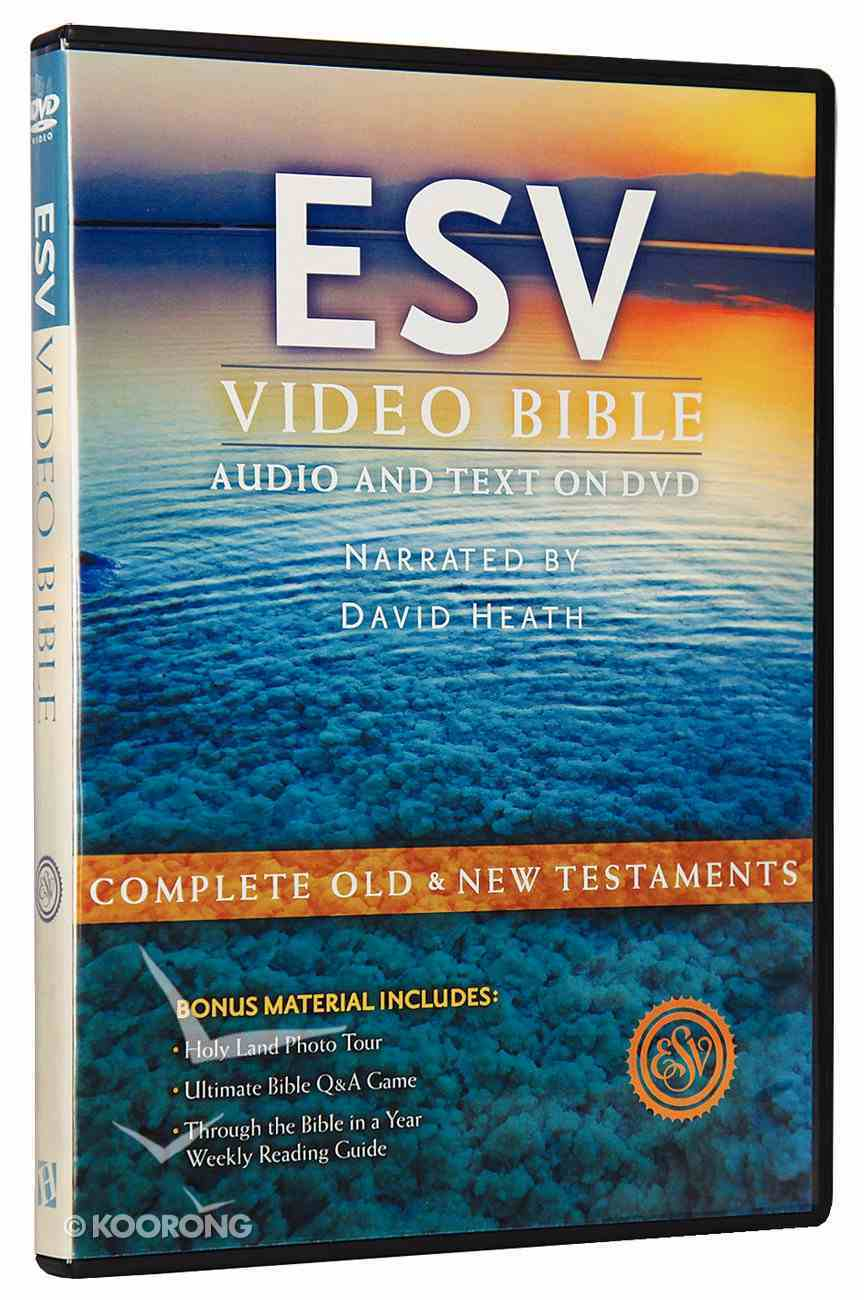 ESV Video Bible Narrated By David Heath (Audio And Text On Dvd) DVD