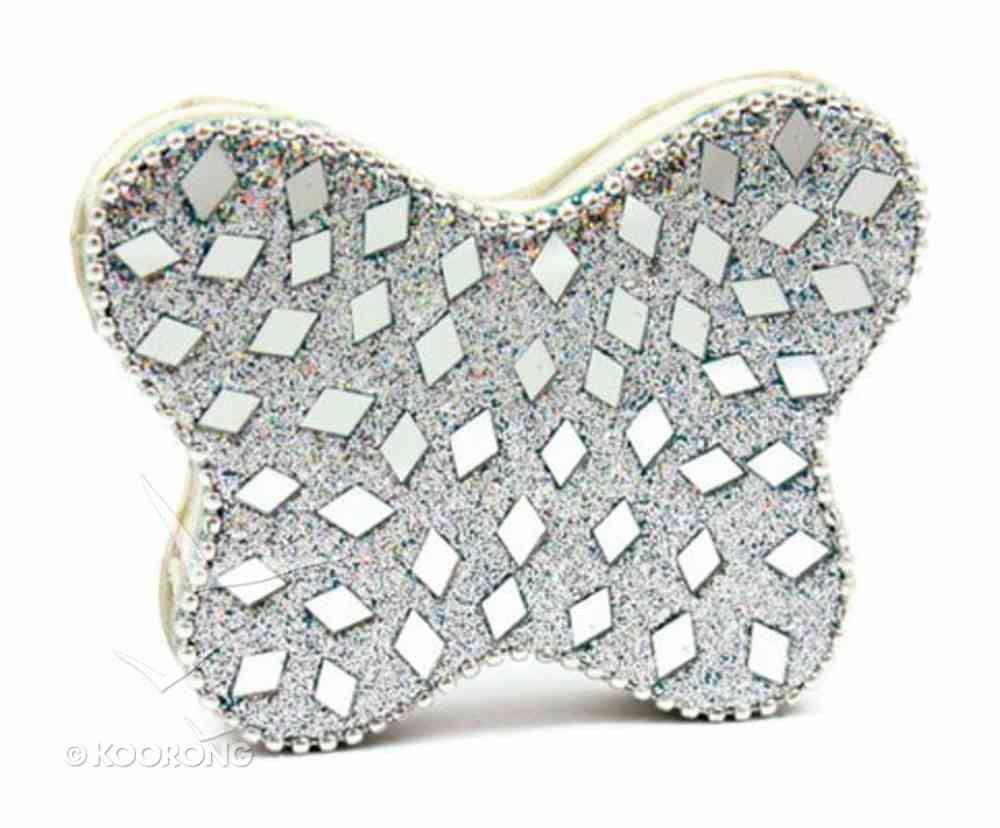 Note Pad Butterfly Silver Glitter (Empowering The Poor Series) Stationery
