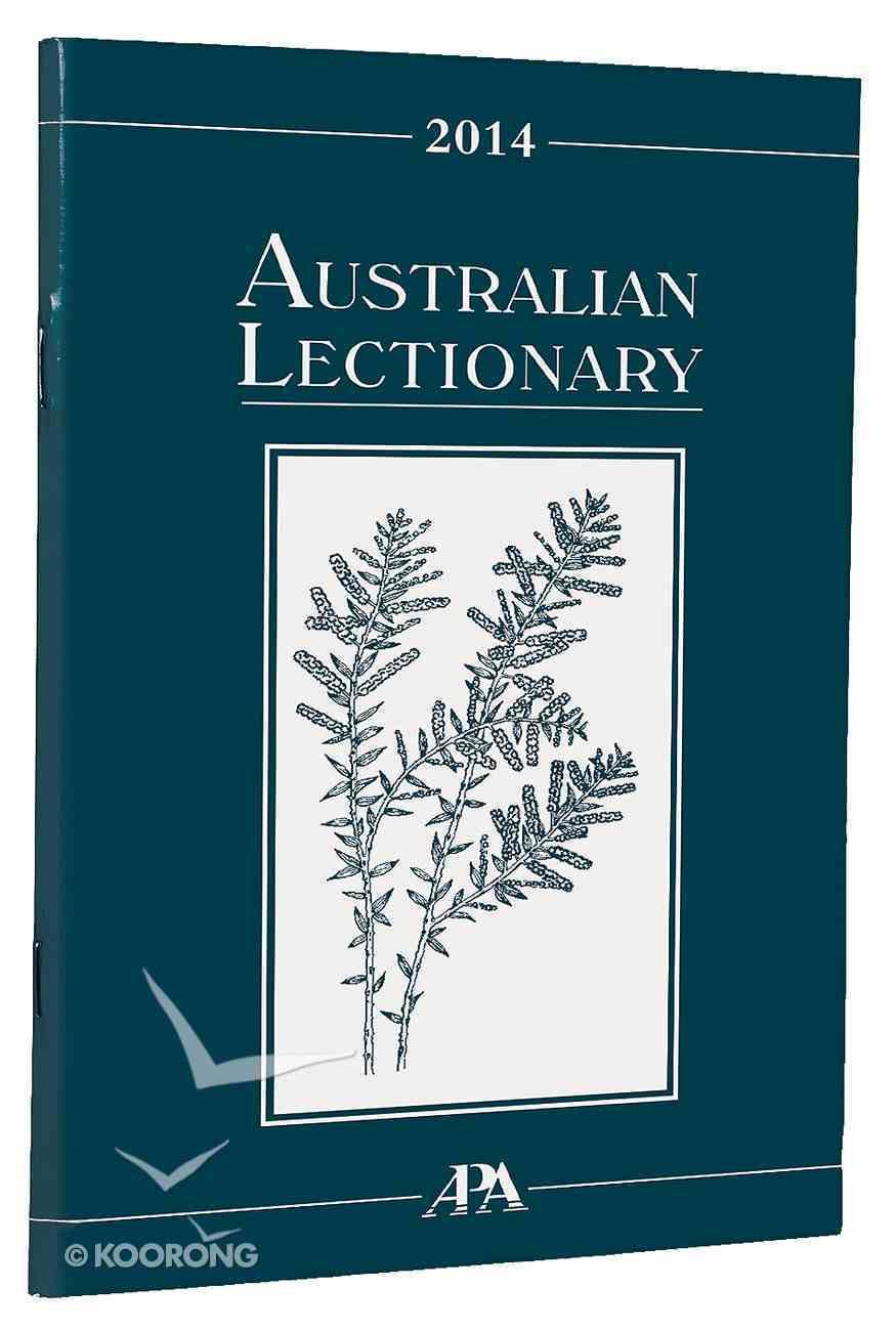 2014 Australian Lectionary An Australian Prayer Book (Year A) Paperback