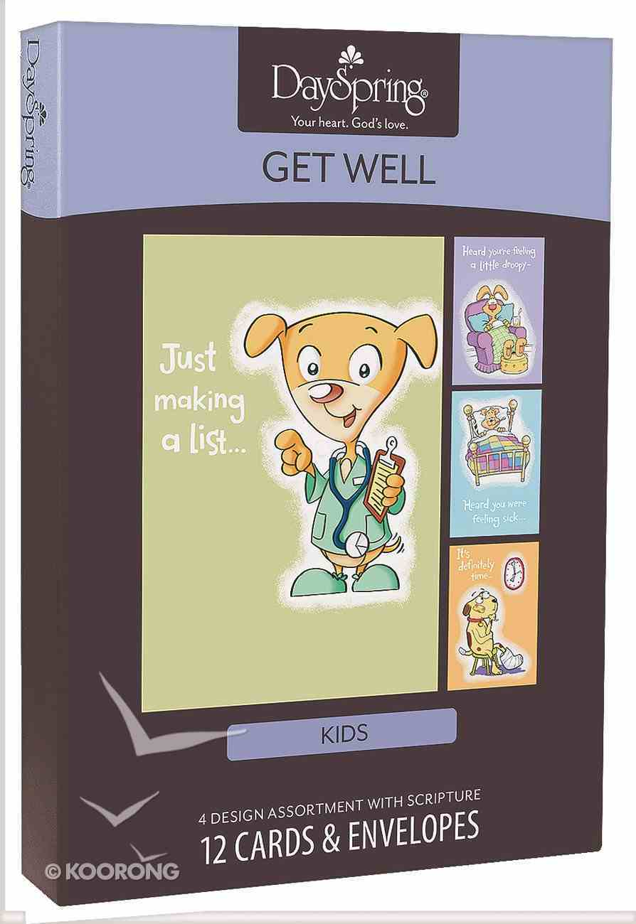 Boxed Cards Get Well: For Kids Box