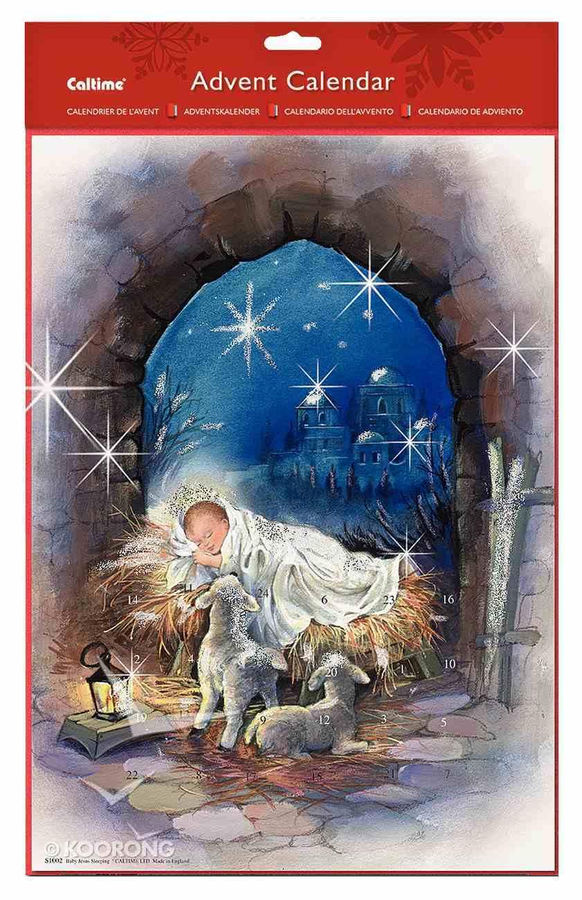 Advent Calendar: Sleeping Jesus With Glitter Calendar