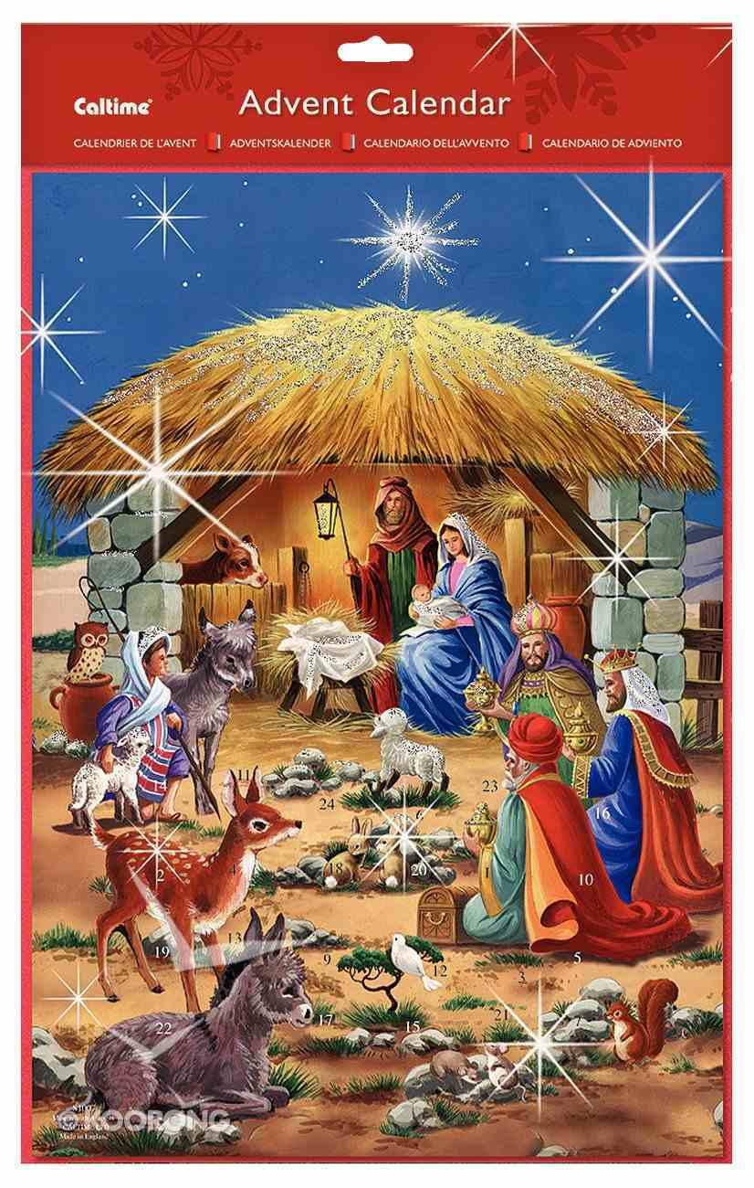 Advent Calendar: Manger and Animals With Glitter Calendar