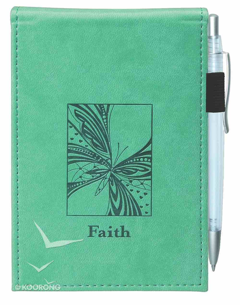 Pocket Notepad With Pen: Faith Luxleather Imitation Leather
