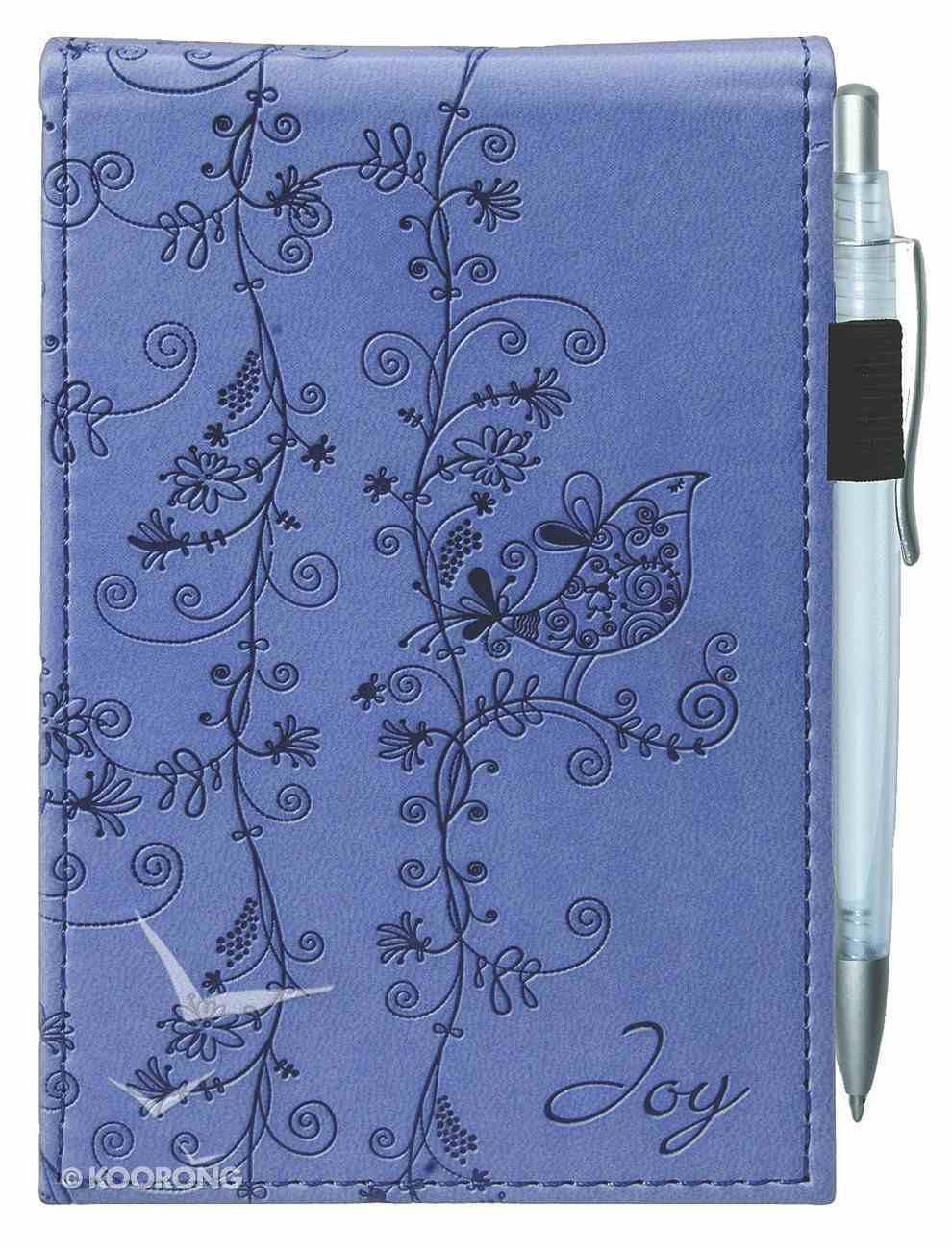 Pocket Notepad With Pen: Joy Luxleather Imitation Leather
